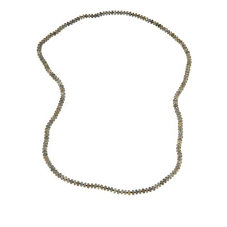 "Jay King Labradorite Bead Knotted 36"" Necklace"