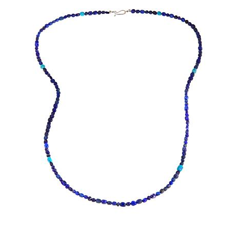 "Jay King Lapis and Turquoise Bead 36"" Necklace"