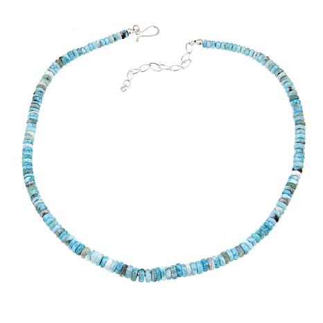 "Jay King Larimar Bead Sterling Silver 19"" Necklace"