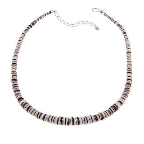 """Jay King Lavender Aphrodite Shell 18-1/4"""" Beaded Necklace"""