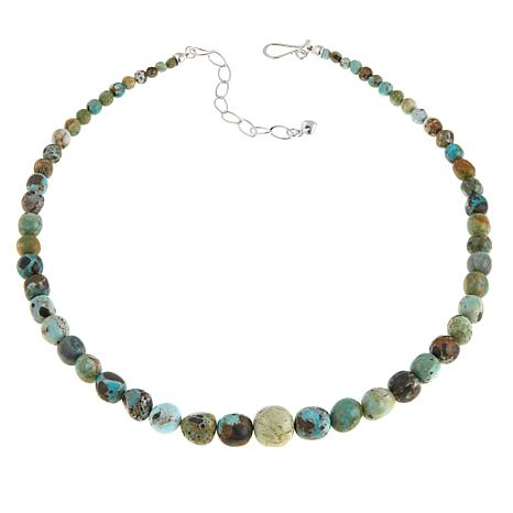 "Jay King Lone Mountain Turquoise Bead 18"" Necklace"