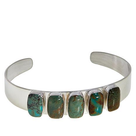 Jay King Lonesome Pine Mountain Turquoise 5-Stone Cuff Bracelet
