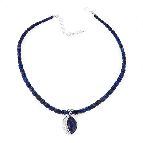 Jay King Marquise Lapis Pendant with Necklace