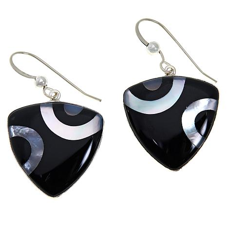 Jay King Midnight Chalcedony and Mother-of-Pearl Drop Earrings