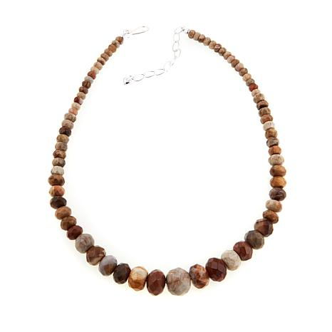 "Jay King Mixed Petrified Wood Beaded 18"" Necklace"