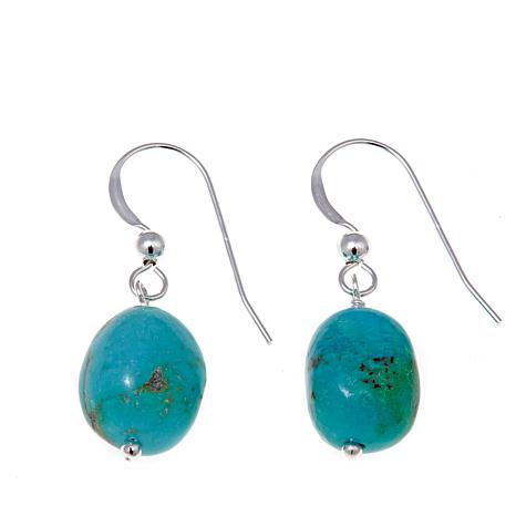 Jay King Mongolian Mist Turquoise Nugget Drop Earrings