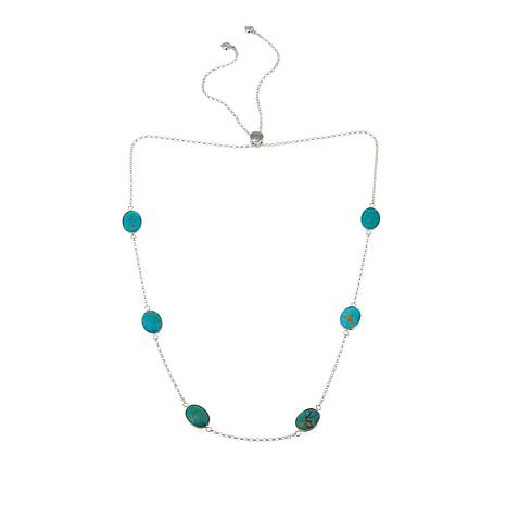 """Jay King Multi-Station Turquoise 30"""" Adjustable Chain Necklace"""