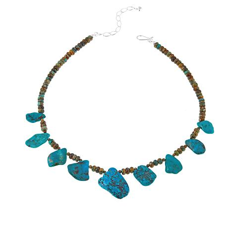 """Jay King Multi-Turquoise Sterling Silver 18"""" Necklace"""