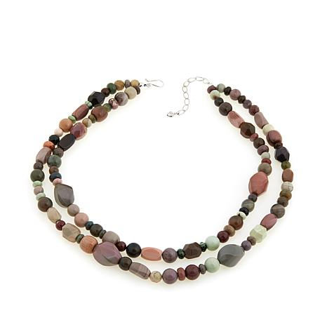 "Jay King Multicolored Imperial Agate 20-1/4"" Necklace"