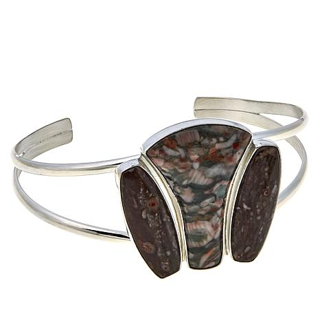 Jay King Multicolored Ocean Calcite Sterling Silver Cuff Bracelet
