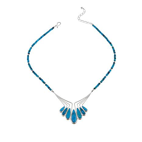 "Jay King Nako Turquoise Sterling Silver 20"" Necklace"