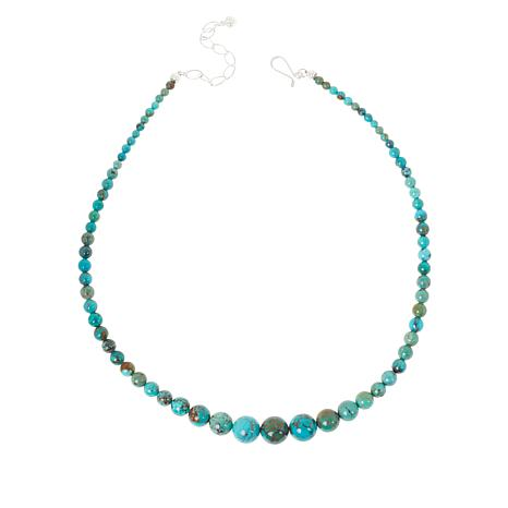 Jay King New Red Skin Turquoise Graduated Bead Necklace