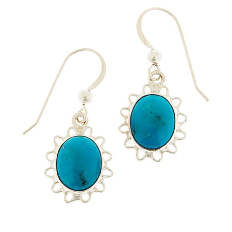 Jay King Royal Blue Turquoise Scalloped Drop Earrings