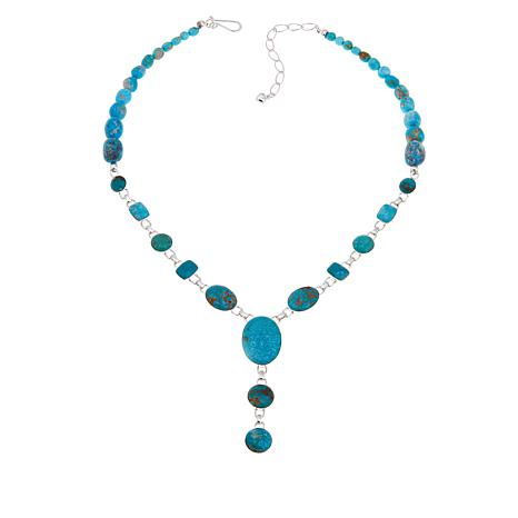 "Jay King Sonoran Blue Turquoise Drop 18"" Necklace"