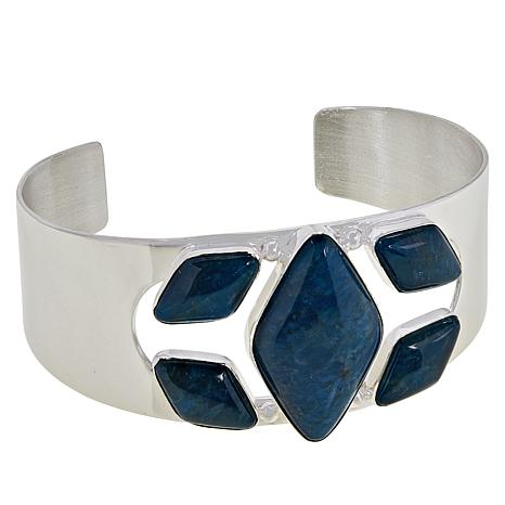 Jay King Sterling Silver Abstract Blue Apatite Cuff Bracelet