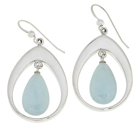 21072c17f Jay King Sterling Silver Aquamarine Pear Drop Earrings - 8926162 | HSN