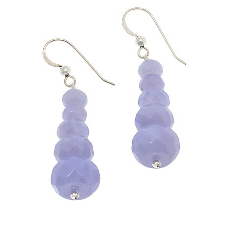 Jay King Sterling Silver Blue Lace Agate Drop Earrings