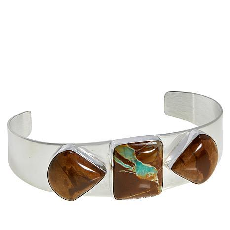 Jay King Sterling Silver Boulder Variscite Cuff Bracelet