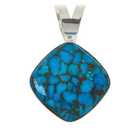 Jay King Sterling Silver Cushion-Cut Gemstone Pendant