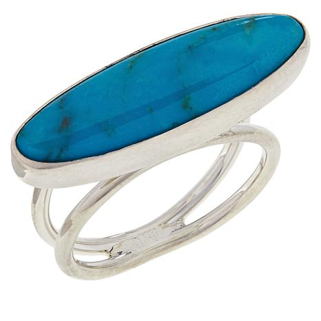 Jay King Sterling Silver East/West Gemstone Ring