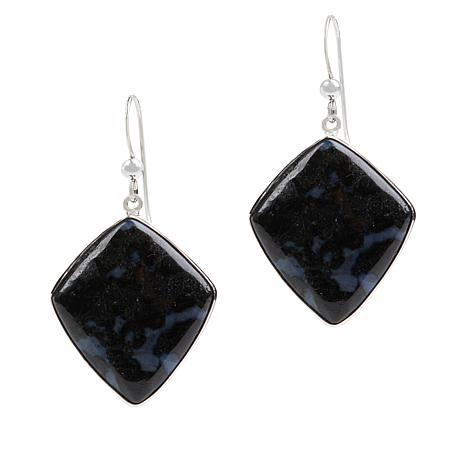 Jay King Sterling Silver Gabro Drop Earrings