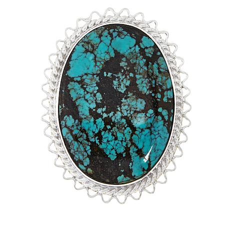 Jay King Sterling Silver Hubei Turquoise Oval Pendant