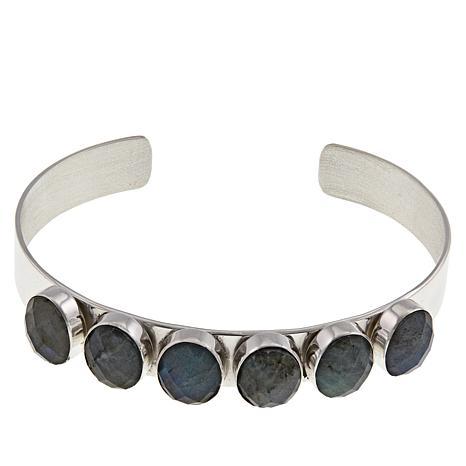 Jay King Sterling Silver Labradorite Oval Cuff Bracelet