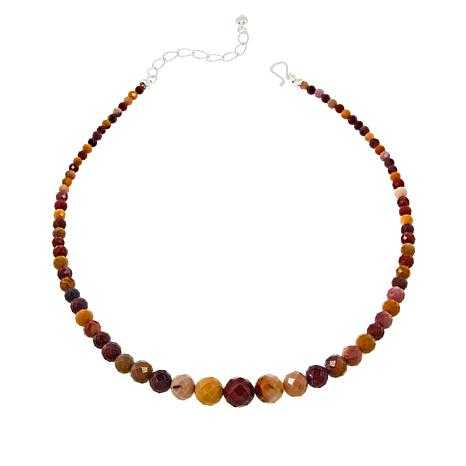 Jay King Sterling Silver Multi-Color Mookaite Bead Necklace