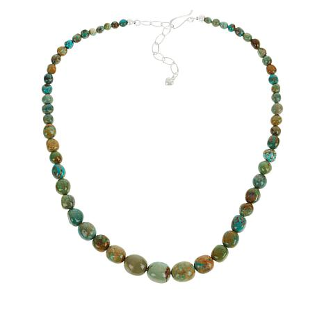 Jay King Sterling Silver Multi-Color Turquoise Nugget Necklace