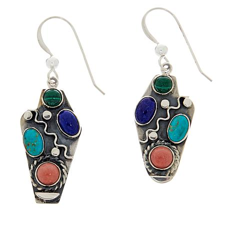 Jay King Sterling Silver Multi-Gemstone Drop Earrings