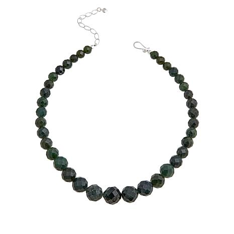 Jay King Sterling Silver Nephrite Jade Beaded Necklace