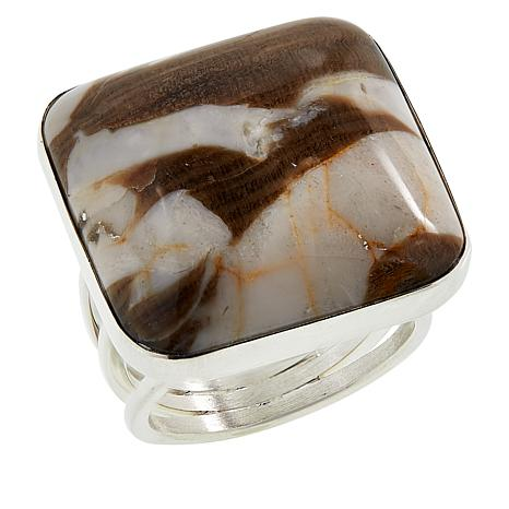 Jay King Sterling Silver Peanut Wood Cushion Ring