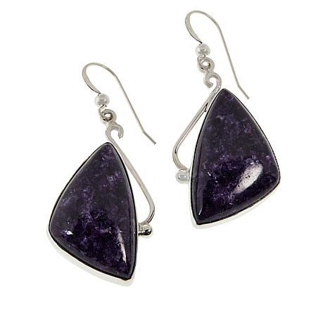 Jay King Sterling Silver Purple Lepidolite Drop Earrings
