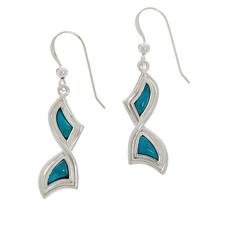 Jay King Sterling Silver Red Skin Turquoise Freeform Earrings