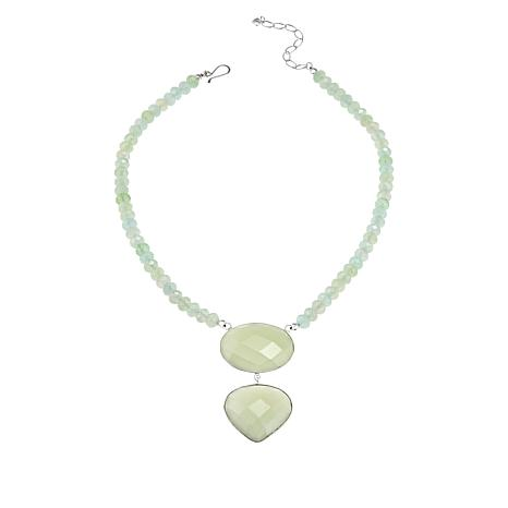 Jay King Sterling Silver Serpentine Beaded Drop Necklace
