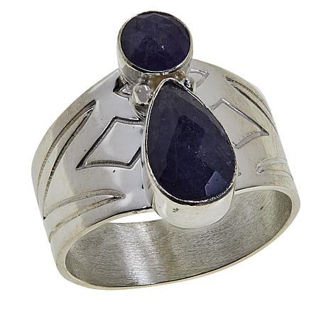 Jay King Sterling Silver Tanzanite Band Ring