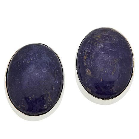 Jay King Sterling Silver Tanzanite Oval Stud Earrings