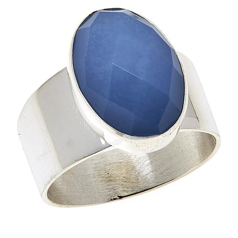 Jay King Sterling Silver Violet Chalcedony Oval Ring