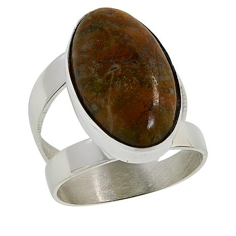 Jay King Sterling Silver Volcanic Opal Ring