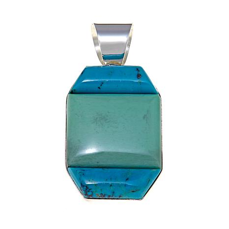 Jay King Turquoise and Variscite Pendant