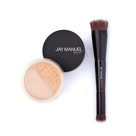 Jay Manuel  Powder to Cream Foundation/Brush - Lt Ivory