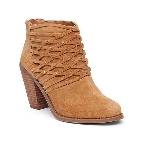 """Jessica Simpson """"Claireen"""" Woven Leather Studded Bootie"""