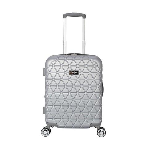 Jessica Simpson Dreamer 20-inch Hardside Luggage - Silver