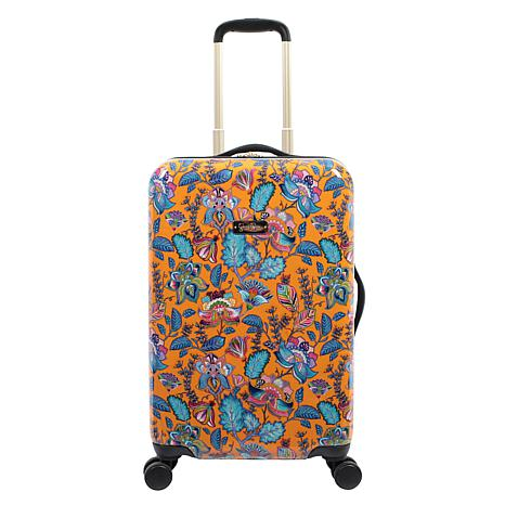 Jessica Simpson Floral Paisley 20-inch Hardside Spinner in Tumeric