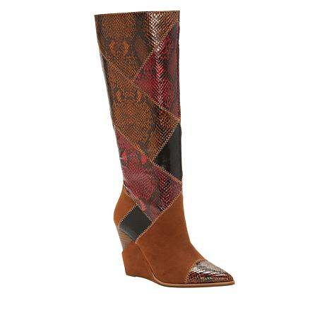 Jessica Simpson Henlee Patchwork Tall Wedge Boot