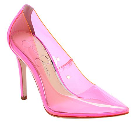 Jessica Simpson Pixera2 Pointed-Toe Clear Pump