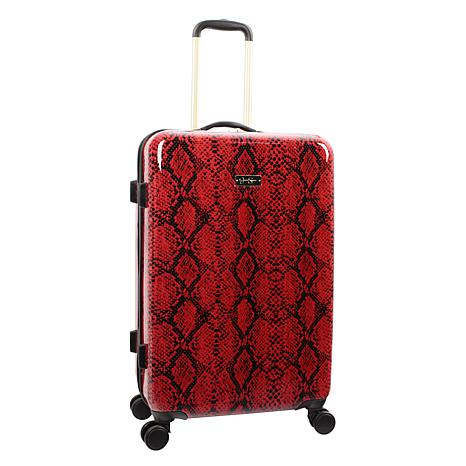 Jessica Simpson Python 25-inch Hardside Spinner in Red