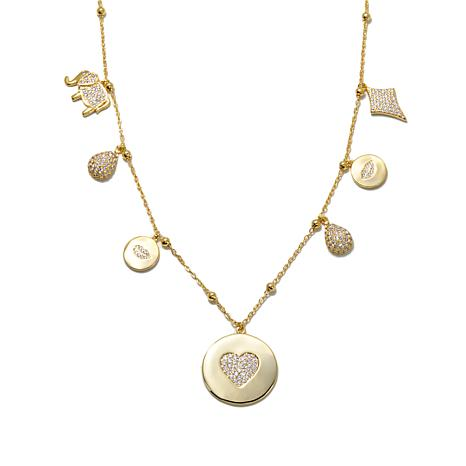 "Jewels by Jen ""Love and Prosperity"" Pavé Necklace"
