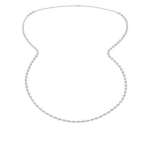 "Joan Boyce Angela's ""Dazzle by the Yard"" 102.60ctw CZ Station Necklace"