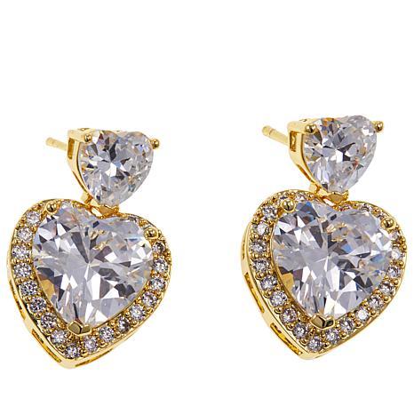 """Joan Boyce Lucy's """"You've Stolen My Heart"""" Drop Earrings"""